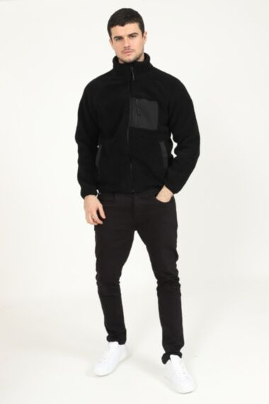 Borg Jacket with Utility Chest Pocket Detail