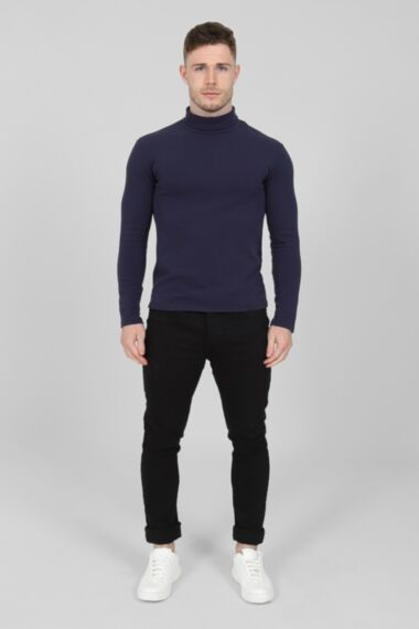 Lux Roll Neck In Navy