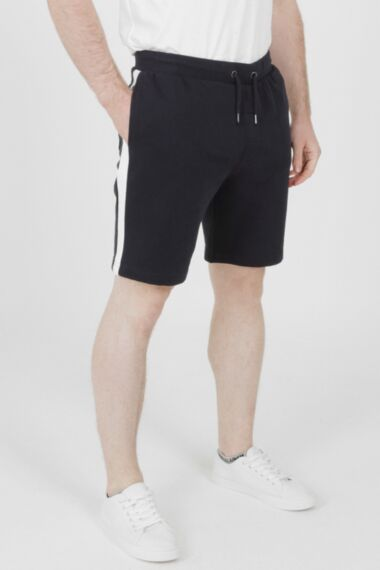 Jersey Short with Panel Navy