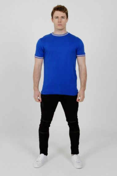 Contrast Tipping T-Shirt Royal Blue