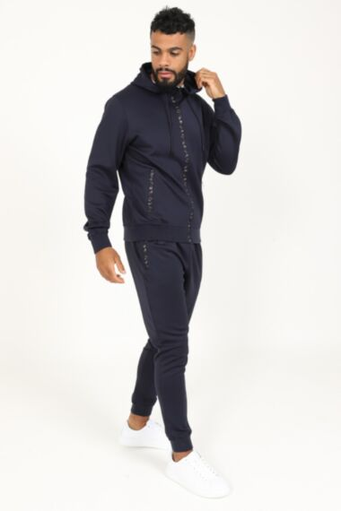 Army Zip Poly Tracksuit in Navy