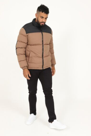 Moss Extra Padded Puffer Jacket in Brown