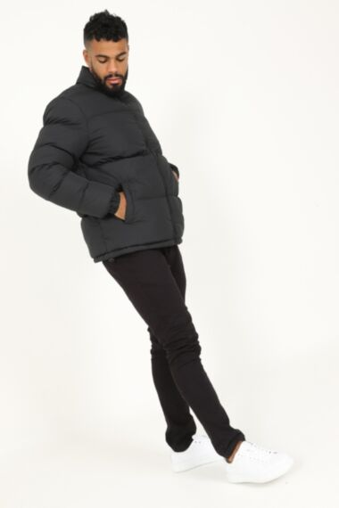 Moss Extra Padded Puffer Jacket in Black