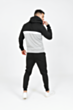 Half Zip Colour Block Tracksuit in Black