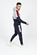 Colour Block Poly Tracksuit in Navy