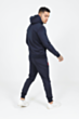 Lux Poly Tracksuit in Navy